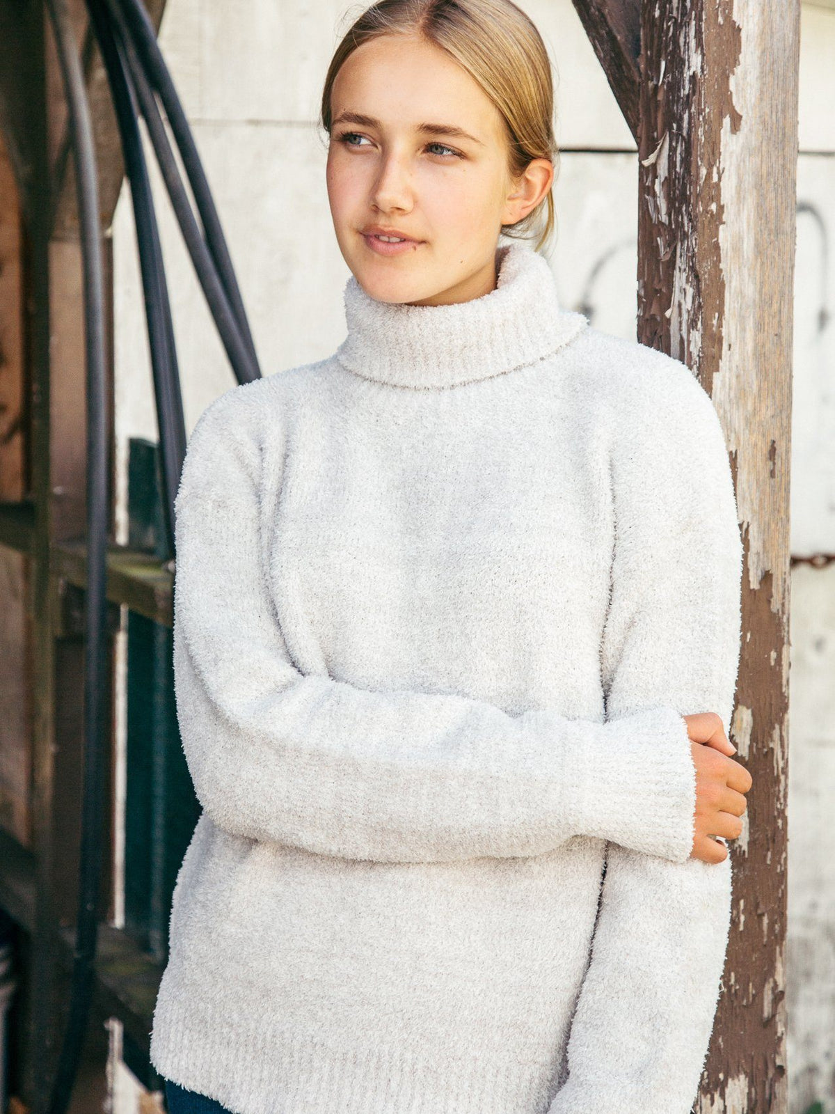Donica Sweater Sweater Thread & Supply SILVER MELANGE S
