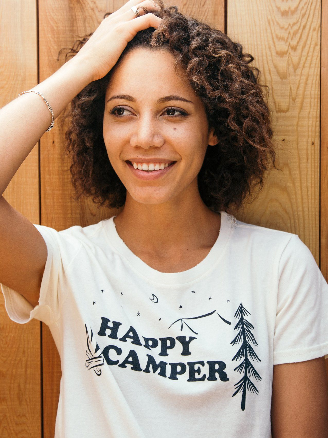 Happy Camper Tee Tees Thread & Supply Vintage White S
