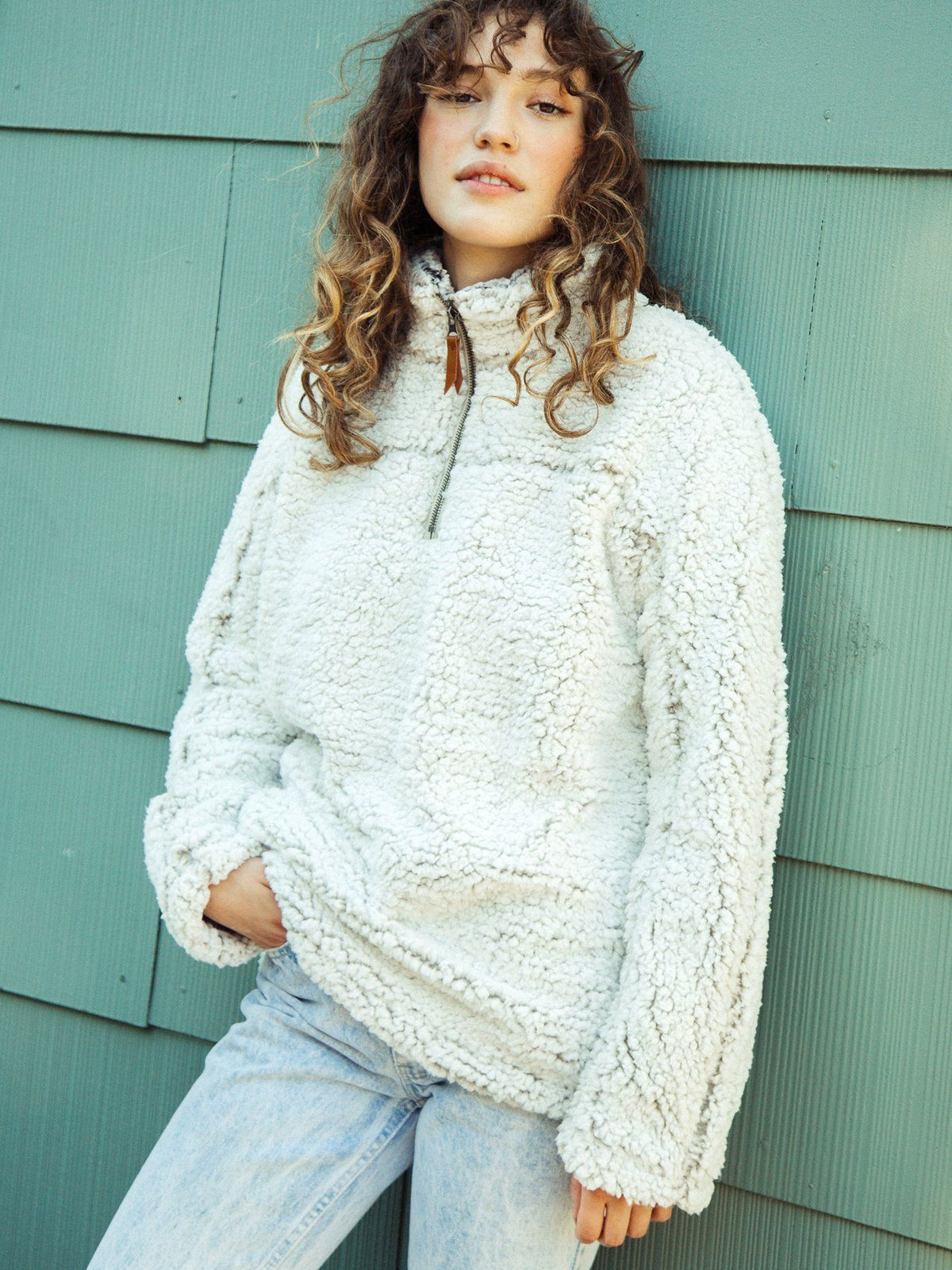 Lazy Sunday Pullover Outerwear Thread & Supply Ivory S