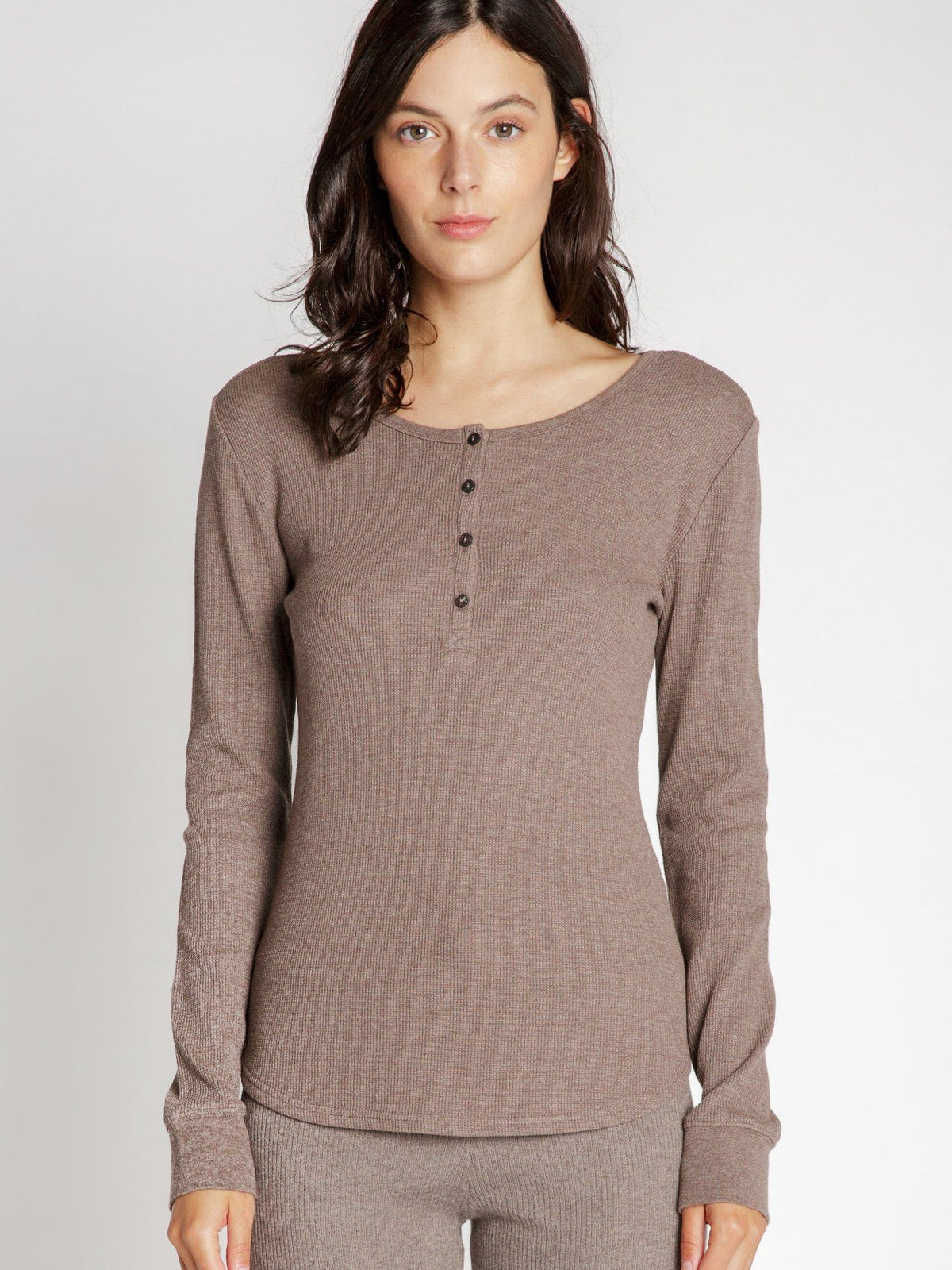 Maeve Long Sleeve Top Shirts Thread & Supply MOCHA S