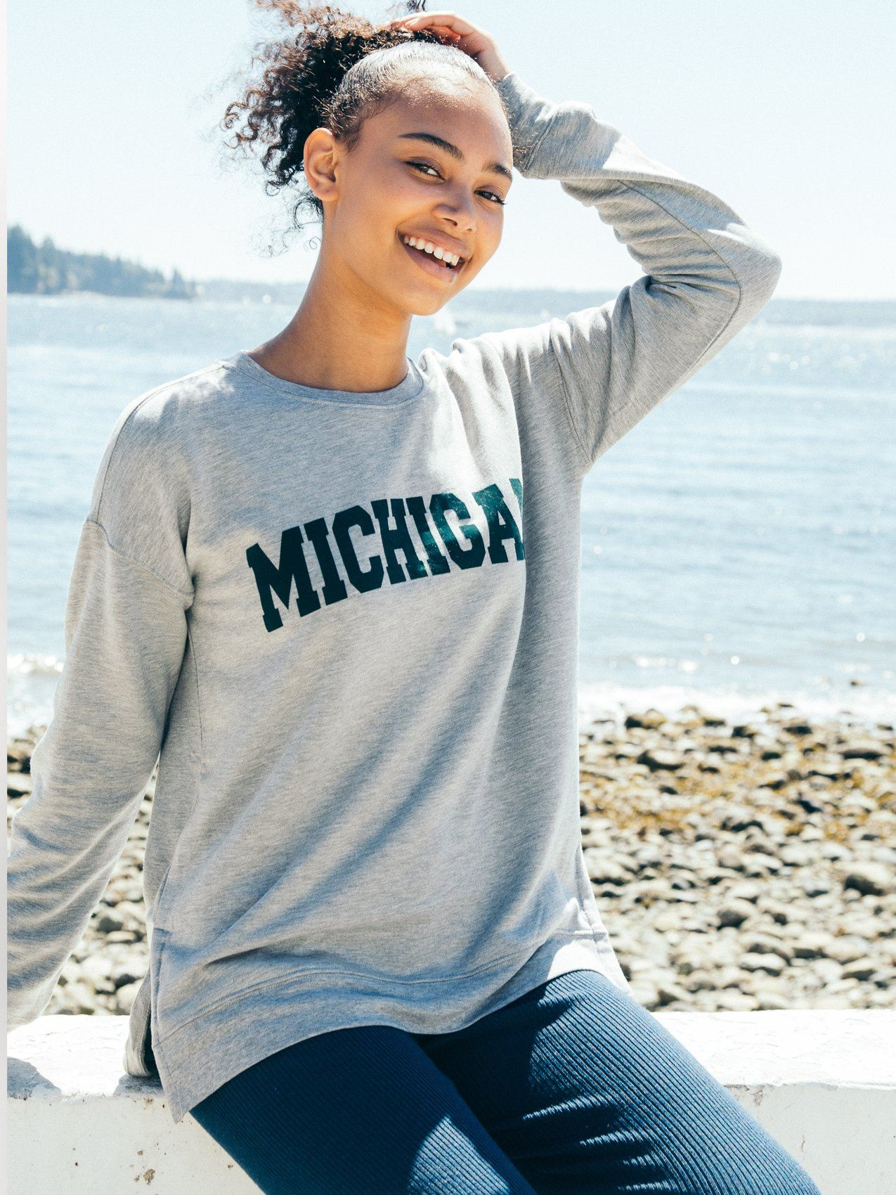 Michigan Arden Sweatshirt Sweatshirt Thread & Supply S Heather Grey