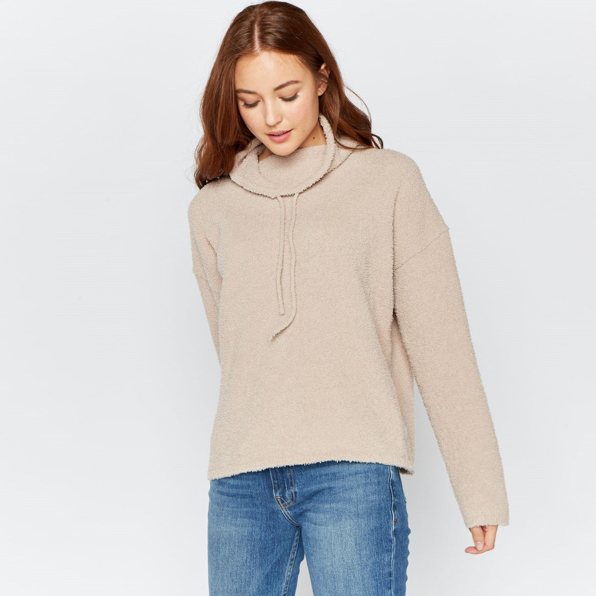 Nicole Sweater Thread & Supply Taupe S