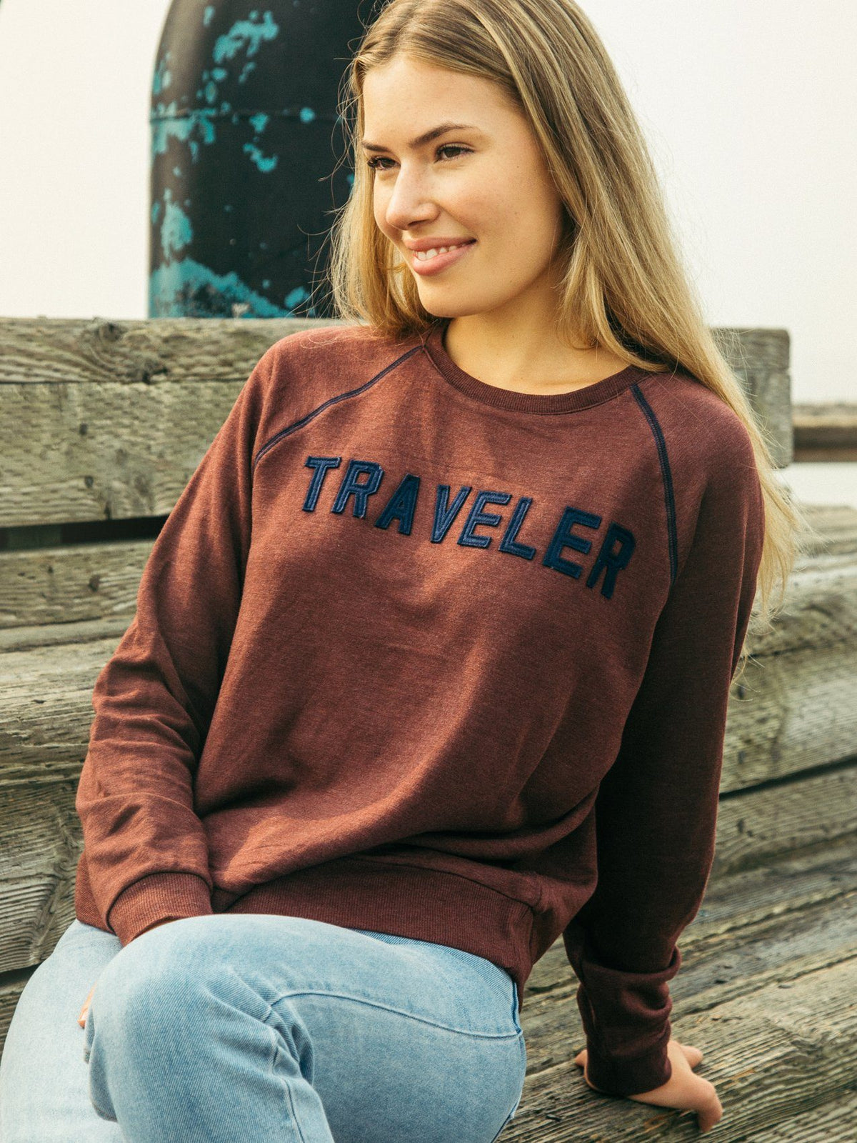 Tory Traveler Sweatshirt Sweatshirt Thread & Supply Garnet Red S