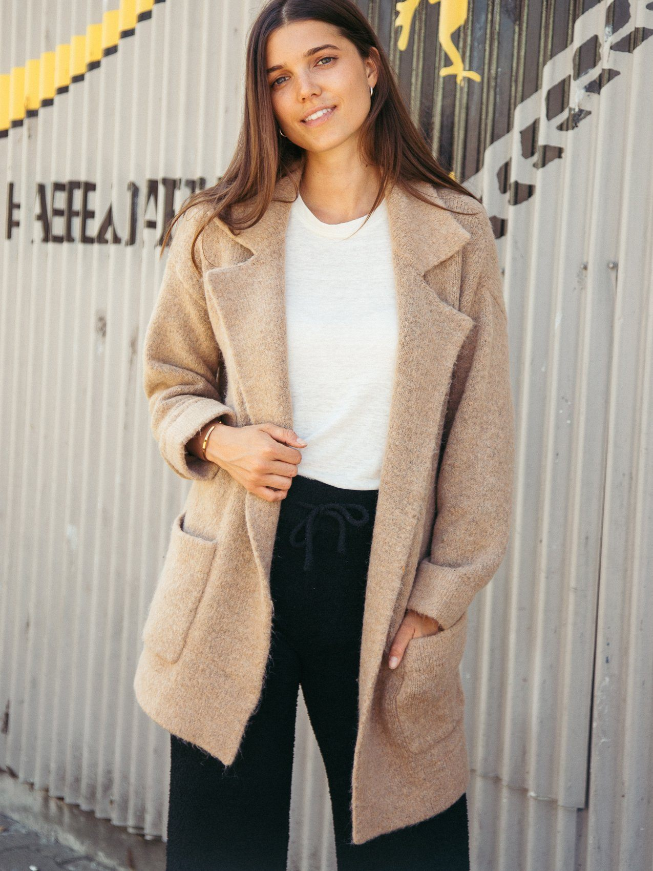 Vita Cardigan Coat Coat Thread & Supply Camel S