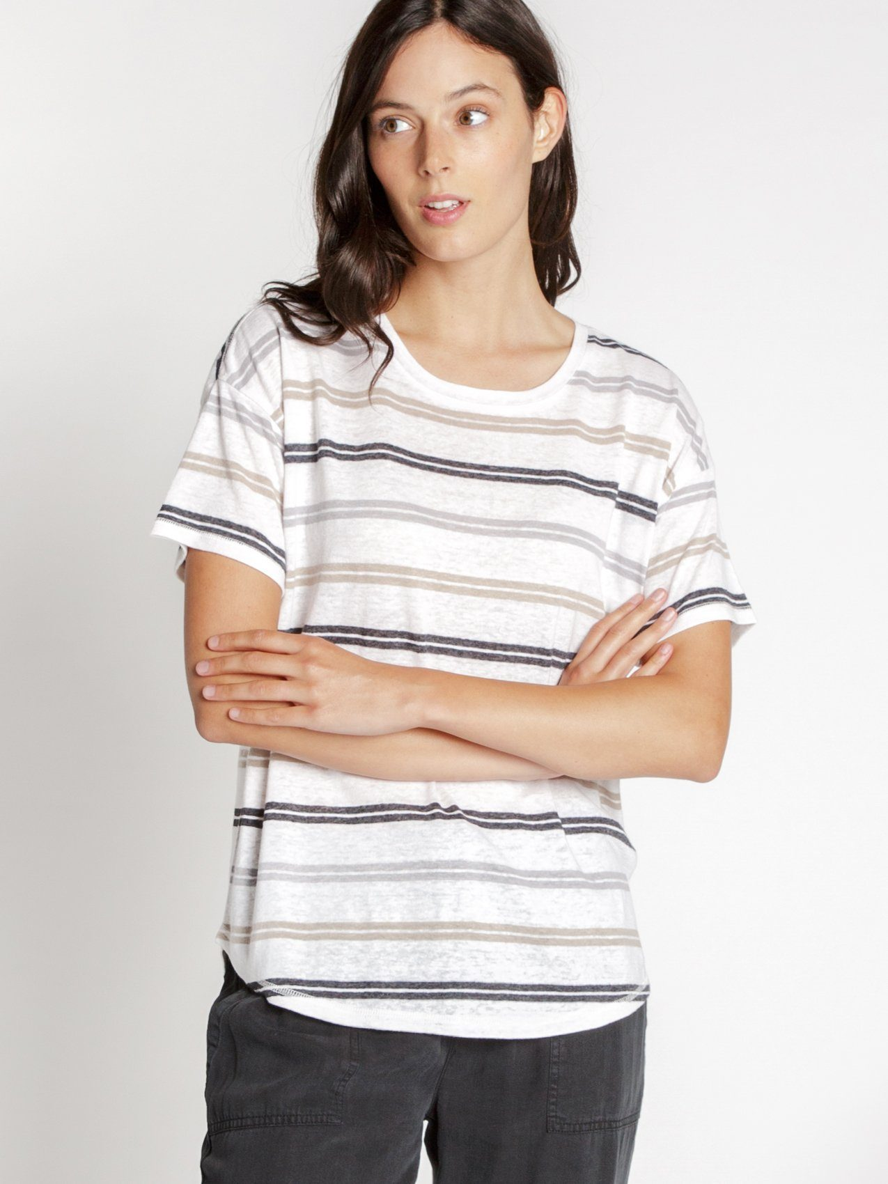 Wheaton Tee Tees Thread & Supply Royal Stripe S