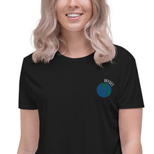 Load image into Gallery viewer, Offset Embroidered Crop Tee