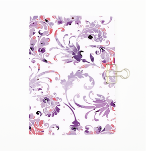 Purple Floral Swirl Cover Traveler's Notebook Insert - All Sizes and Patterns C003