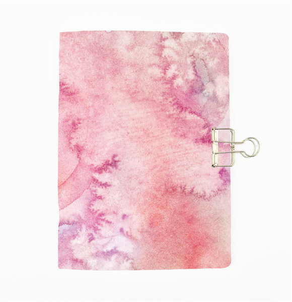Pink Watercolour Cover Traveler's Notebook Insert - All Sizes and Patterns C013
