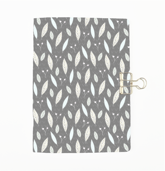 Grey Leaves Cover Traveler's Notebook Insert - All Sizes and Patterns C058