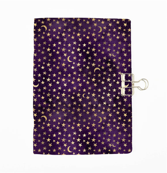 Purple Magic Stars Cover Traveler's Notebook Insert - All Sizes and Patterns C127