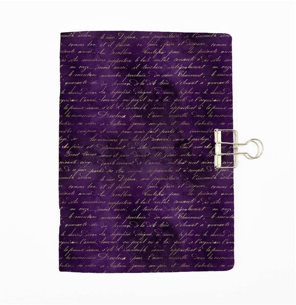 Purple Magic Script Cover Traveler's Notebook Insert - All Sizes and Patterns C129