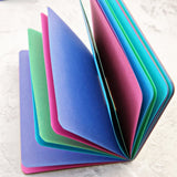 """Jewels"" Pink Purple Blue Green Traveler's Notebook Insert - All Sizes, Plain, Dot or Square Grid"