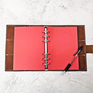 Red, All Sizes, Plain, Dot or Grid, PRINTED AND PUNCHED Filofax Paper Insert - 30 Pages
