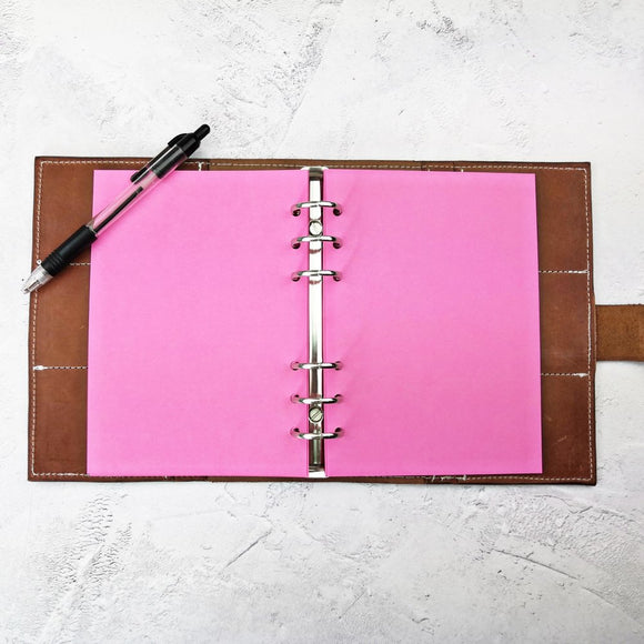 Deep Pink All Sizes, Plain or Dot Grid, PRINTED AND PUNCHED Filofax Paper Insert - 30 Sheets