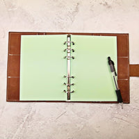 Pastel Green All Sizes, Plain or Dot Grid, PRINTED AND PUNCHED Filofax Paper Insert - 30 Pages