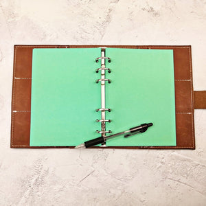 Deep Green, All Sizes, Plain, Dot or Grid, PRINTED AND PUNCHED Filofax Paper Insert - 30 Sheets