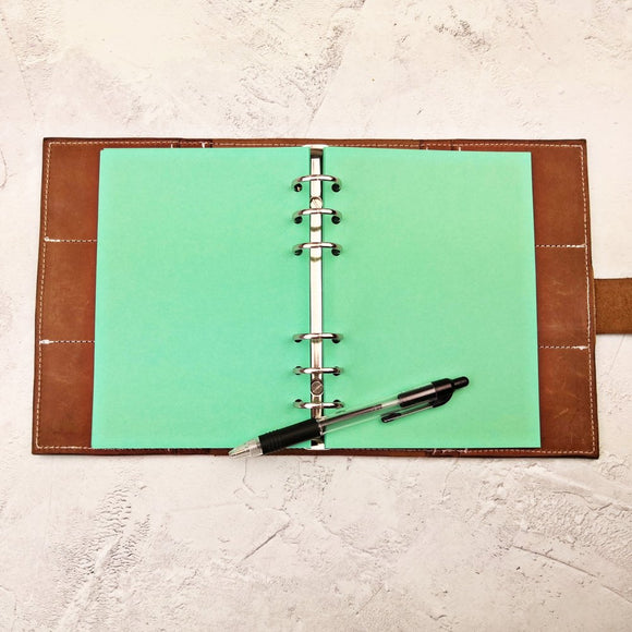 Deep Green, All Sizes, Plain, Dot or Grid, PRINTED AND PUNCHED Filofax Paper Insert - 30 Pages