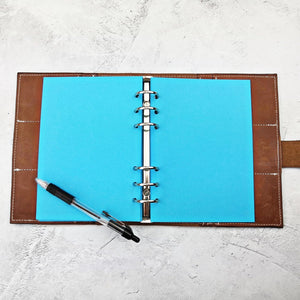 Bright Blue All Sizes, Plain, Dot or Grid, PRINTED AND PUNCHED Filofax Paper Insert - 30 Pages