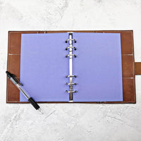 Purple, All Sizes, Plain or Dot Grid, PRINTED AND PUNCHED Filofax Paper Insert - 30 Pages