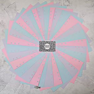 Pink Mist - All Sizes PRINTED AND PUNCHED Filofax Paper Insert, Thick Sheets for Ring Binder - 30 Pages