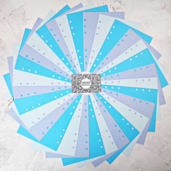 Ice Ice Baby - All Sizes PRINTED AND PUNCHED Filofax Paper Insert, Thick Sheets for Ring Binder - 30 Sheets