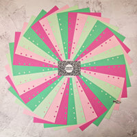 Watermelon - All Sizes PRINTED AND PUNCHED Filofax Paper Insert, Thick Sheets for Ring Binder - 32 Pages