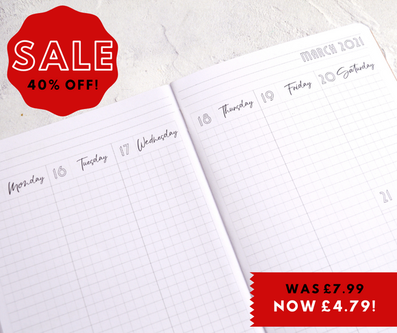 *SALE!* 2021 Dated B6 Traveler's Notebook Insert