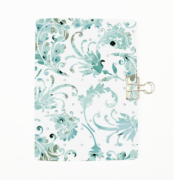 Blue Floral Swirl Cover Traveler's Notebook Insert - All Sizes and Patterns C002