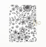 Colour Me Flowers Cover Traveler's Notebook Insert - All Sizes and Patterns C020