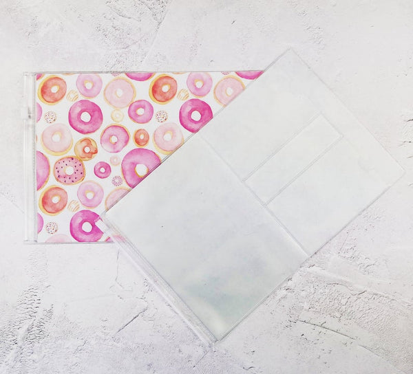 Pink Donuts Wallet Insert for Traveler's Notebook - B6 and A6 - C080