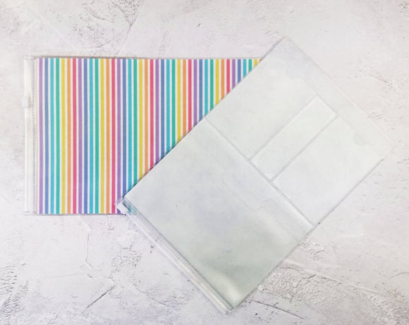 Rainbow Stripe Wallet Insert for Traveler's Notebook - B6 and A6 - C045