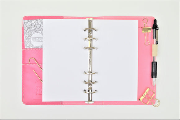 Plain All Sizes Filofax PRINTED AND PUNCHED Luxury Paper Insert, Thick Sheets for Ring Binder inc Malden and Kikki K - 30 Sheets