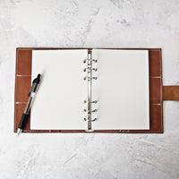 Light Grey, All Sizes, Plain or Dot Grid, PRINTED AND PUNCHED Filofax Paper Insert - 30 Pages