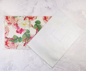 Classic Floral Wallet Insert for Traveler's Notebook - B6 and A6 - C006