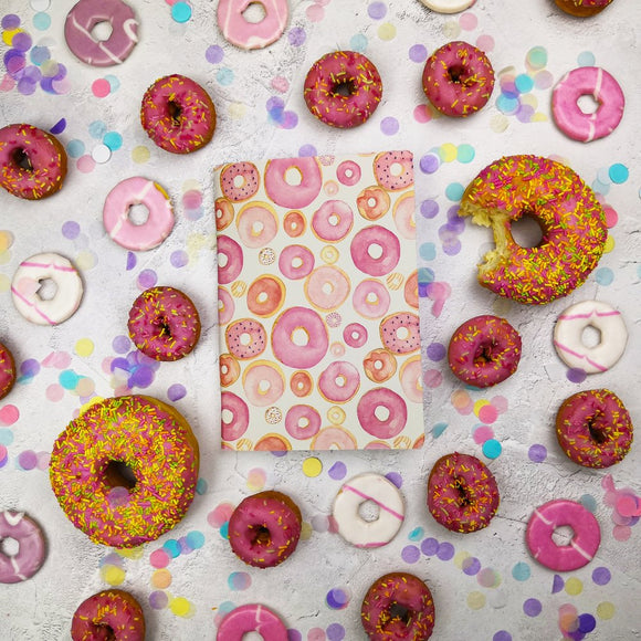 Pink Donuts Cover Traveler's Notebook Insert - All Sizes and Patterns C080