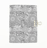 Colour Me Flowers Cover Traveler's Notebook Insert - All Sizes and Patterns  C069