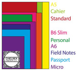 """Jewels"" Pink Purple Blue Green Traveler's Notebook Insert - All Sizes, Plain or Dot Grid"