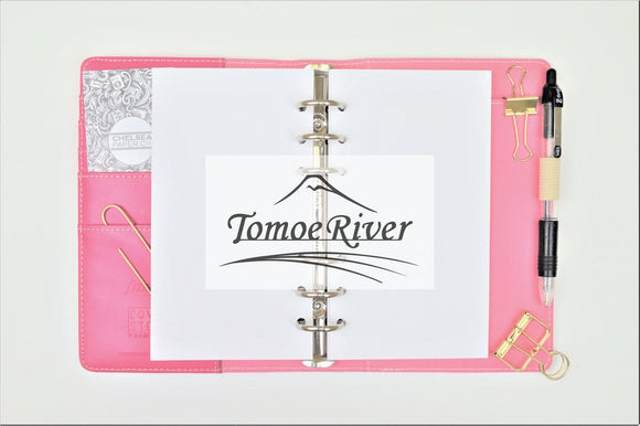 Tomoe River All Sizes PRINTED AND PUNCHED B6 Personal Filofax Luxury Paper Insert, Thick Sheets for Ring Binder and Kikki K - 30 Pages