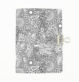 Colour Me Flowers Cover Traveler's Notebook Insert - All Sizes and Patterns  C070