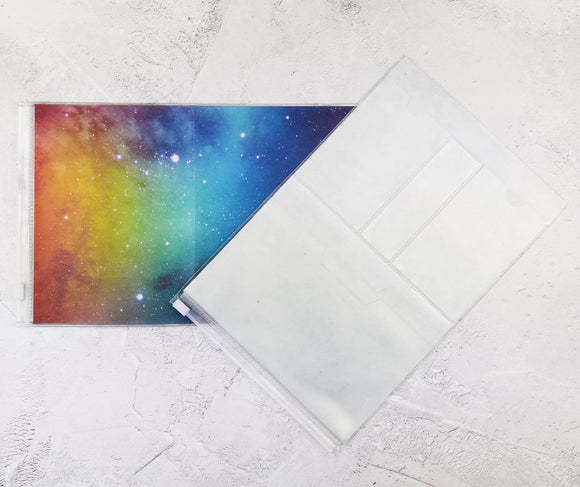 Rainbow Galaxy Wallet Insert for Traveler's Notebook - B6 and A6 - C038