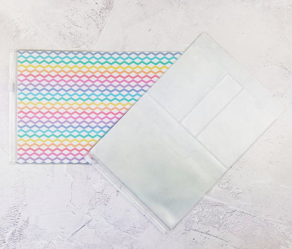 Rainbow ZigZag Wallet Insert for Traveler's Notebook - B6 and A6 - C043