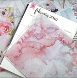 Pink Watercolour Wallet Insert for Traveler's Notebook - B6 and A6 - C001