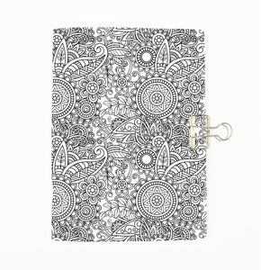 Colour Me Flowers Cover Traveler's Notebook Insert - All Sizes and Patterns  C068