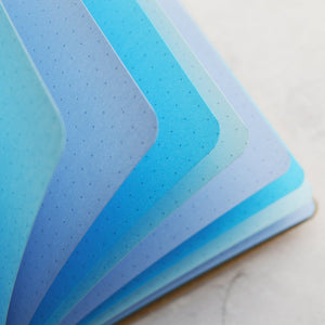 """Ice Ice Baby"" Blue Rainbow Traveler's Notebook Insert - All Sizes, Plain, Dot or Square Grid"