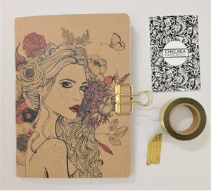 Planner Girl Floral Loose Hair Cover Traveler's Notebook Insert - All Sizes and Patterns C004