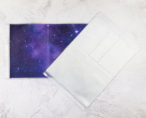 Purple Galaxy Wallet Insert for Traveler's Notebook - B6 and A6 - C037
