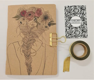 Planner Girl Floral Braid Cover Traveler's Notebook Insert - All Sizes and Patterns C008