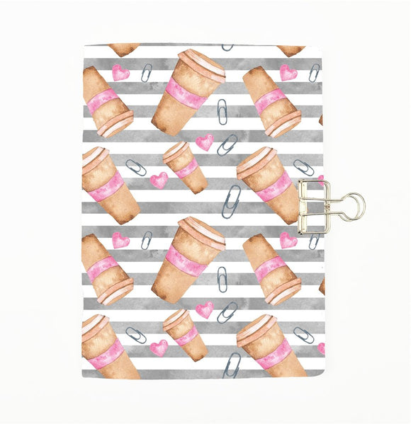 Planner Addict Heart and Coffee Cover Traveler's Notebook Insert - All Sizes and Patterns C109