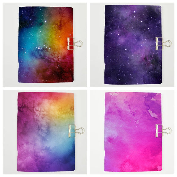 Set of 4 Galaxy Traveler's Notebook Inserts - All Sizes and Patterns C035/036/037/038