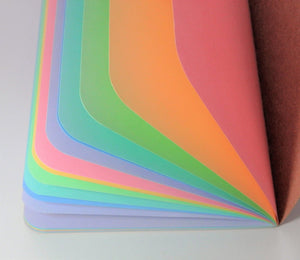 Pastel Rainbow Traveler's Notebook Insert - All Sizes, Plain, Dot or Square Grid